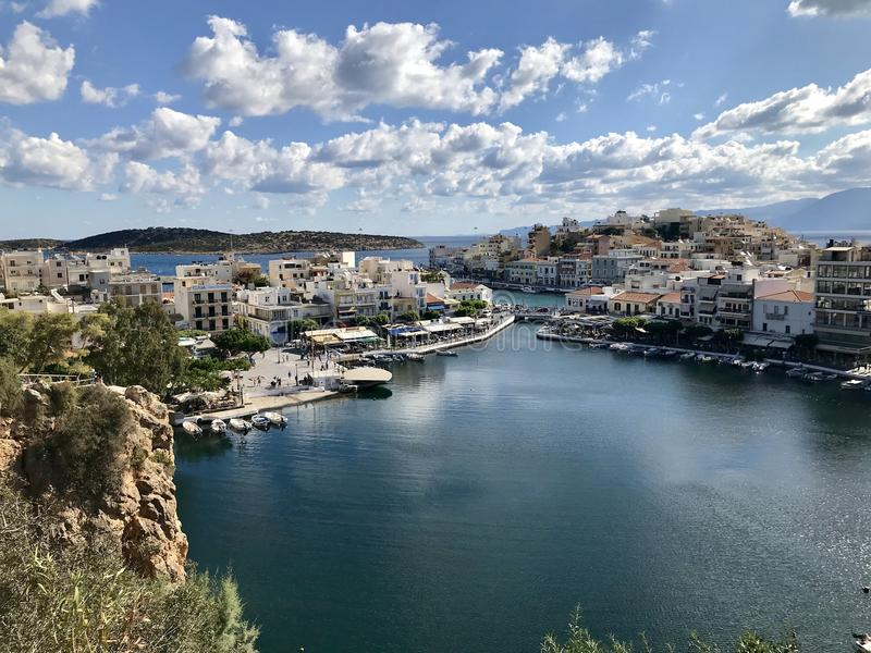 希腊城市秋天 免版税图库摄影