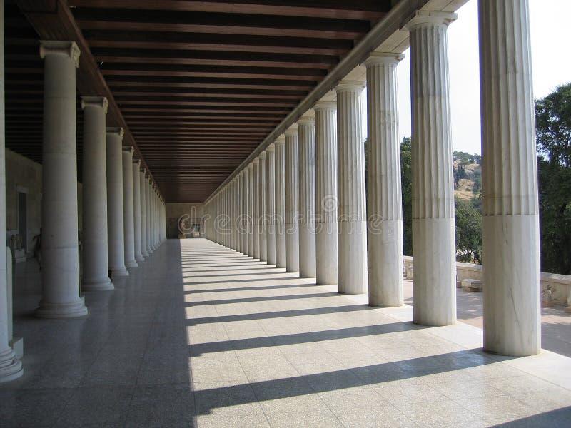 希腊大厅 免版税库存图片
