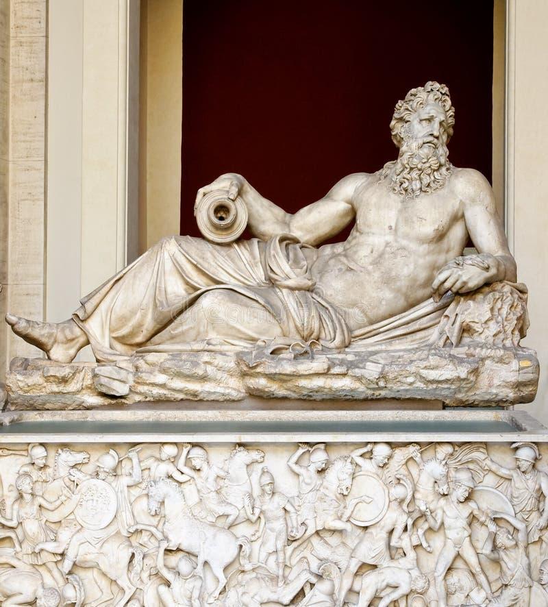 希腊大理石雕塑 图库摄影