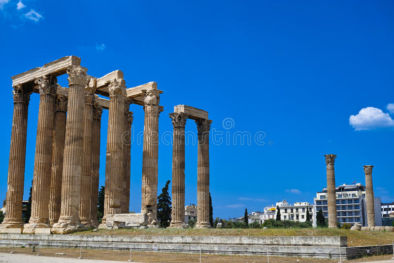 希腊奥林匹亚寺庙宙斯 图库摄影
