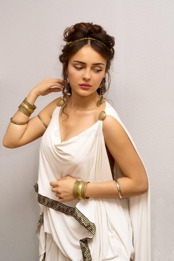 希腊妇女 免版税库存照片