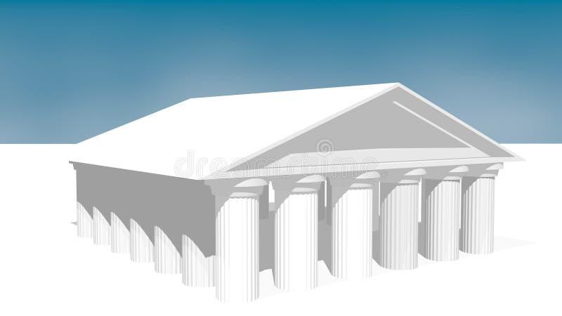 希腊寺庙 库存例证