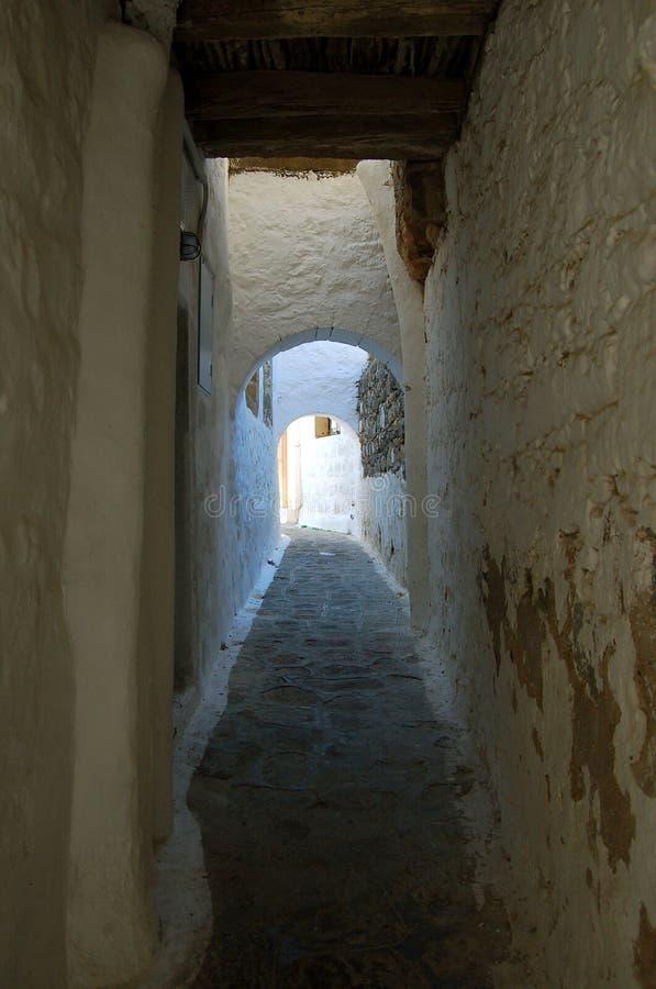 希腊小的街道 库存图片