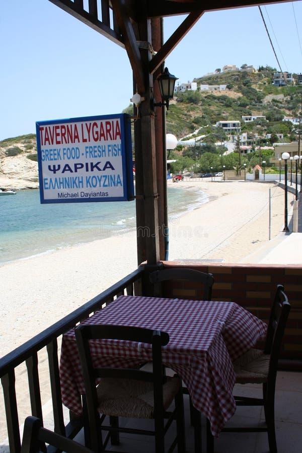 希腊小酒馆 免版税库存照片