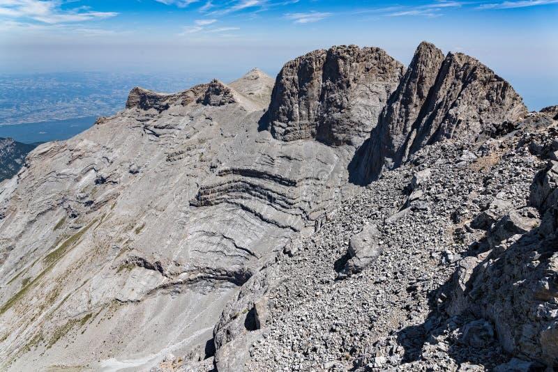 希腊山 免版税库存图片