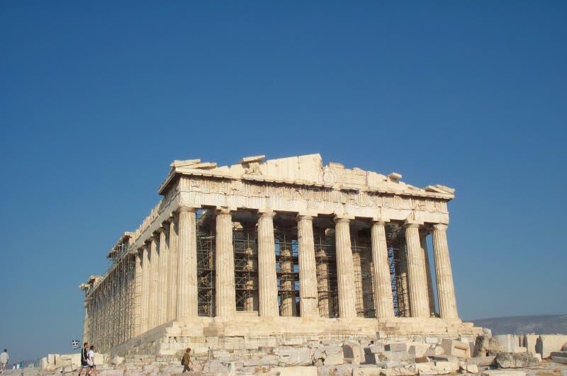 希腊帕台农神庙 库存图片