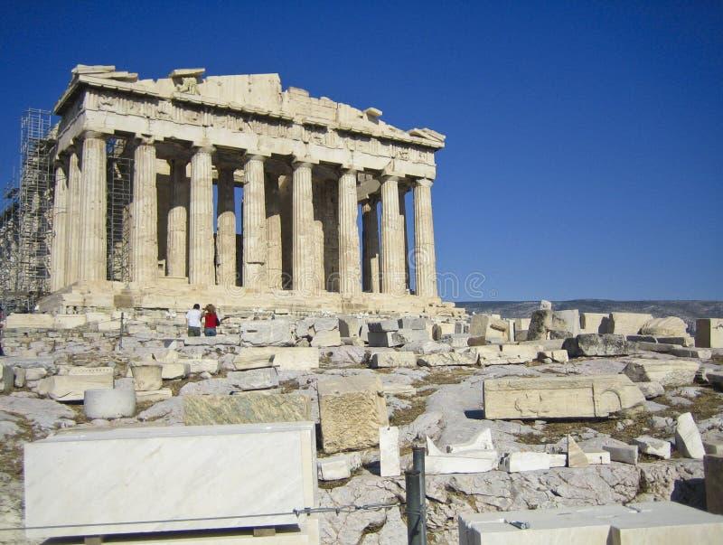 希腊废墟 免版税库存图片