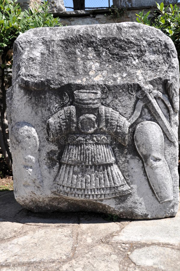 希腊战士的安心 免版税库存照片