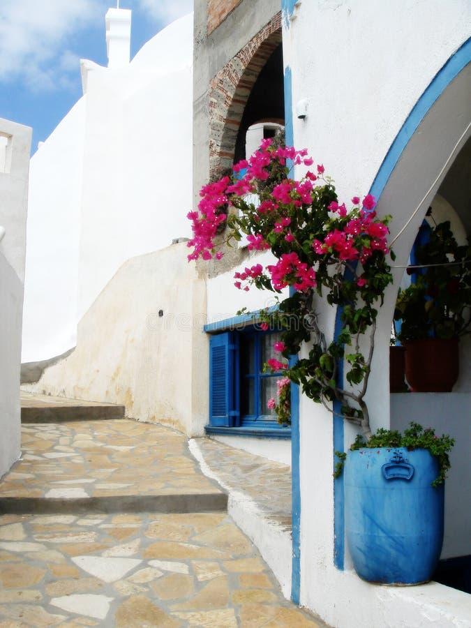 希腊房子海岛 免版税库存图片