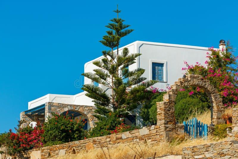 希腊房子白色 免版税库存照片