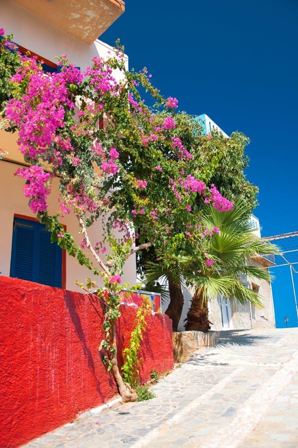 希腊房子 免版税图库摄影