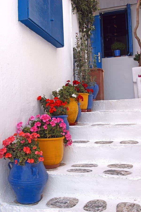 希腊房子 免版税库存照片