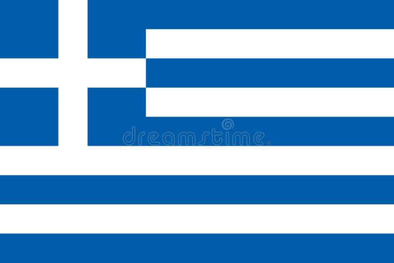 希腊旗子在正式颜色和以2:3长宽比  向量例证