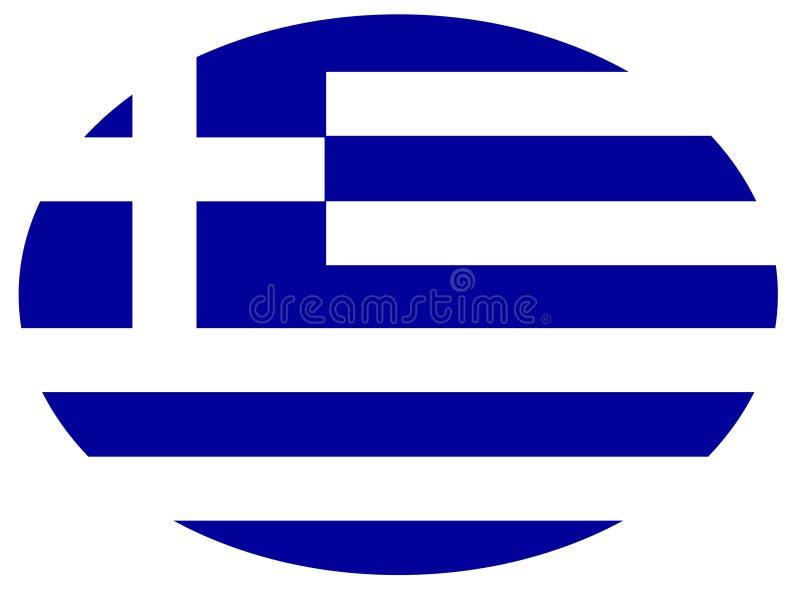 希腊旗子-国家在欧洲 向量例证