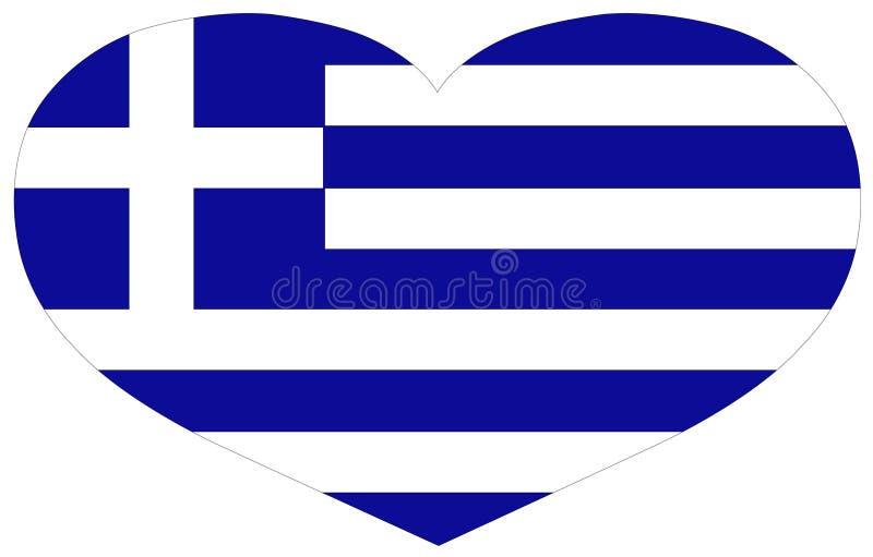 希腊旗子-国家在欧洲 皇族释放例证