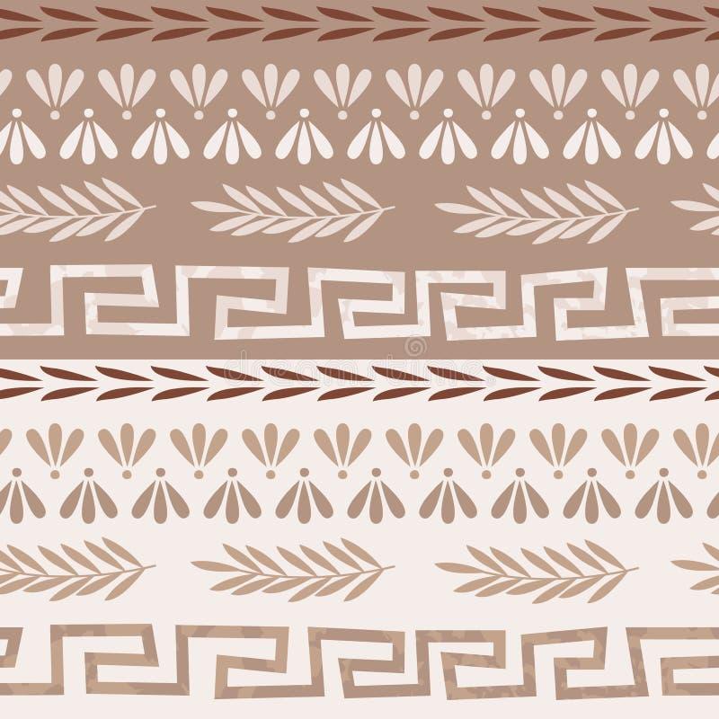 希腊无缝的样式 皇族释放例证