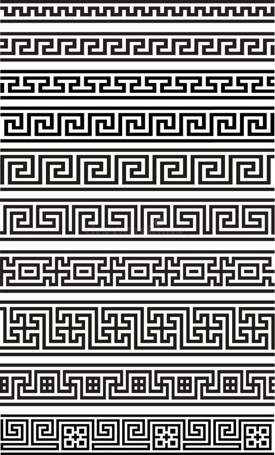 希腊无缝的装饰品 库存例证