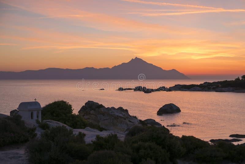 希腊日出 免版税库存图片