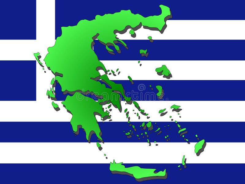 希腊映射 皇族释放例证