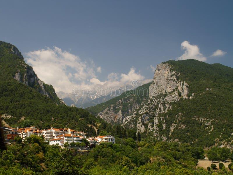 希腊最高的奥林匹斯山峰顶 图库摄影