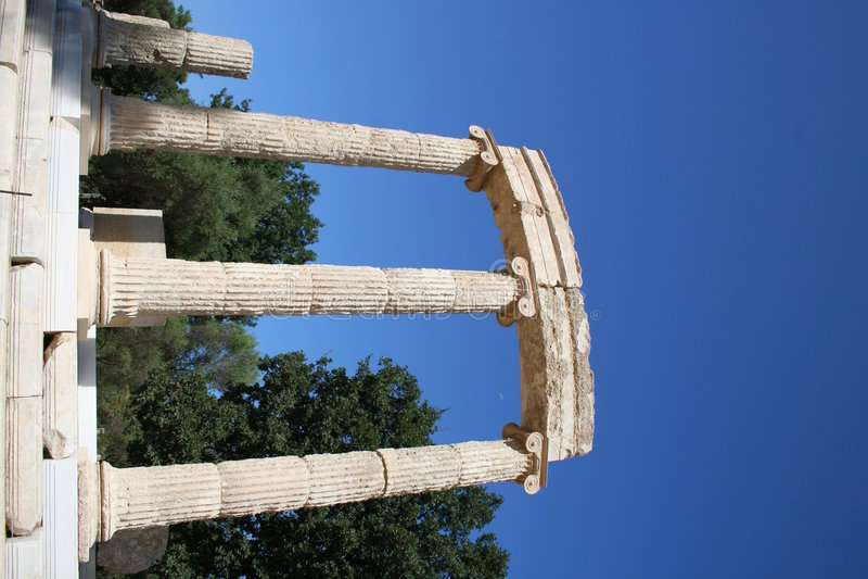 希腊有历史的奥林匹亚 库存图片