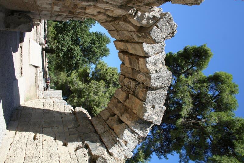 希腊有历史的奥林匹亚 库存照片