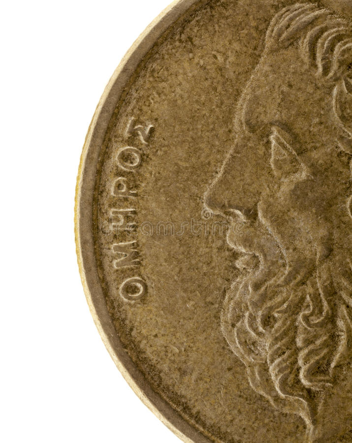 希腊本垒打诗人讲故事者 库存照片