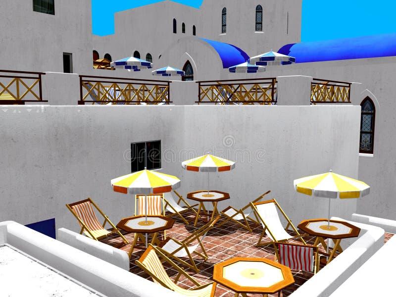 Download 希腊村庄 库存例证. 插画 包括有 地标, 五颜六色, 室外, 房子, 正统, beauvoir, 天空 - 22358797