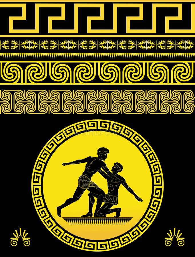 希腊模式 皇族释放例证