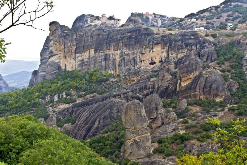 希腊正统meteora的修道院 免版税库存图片