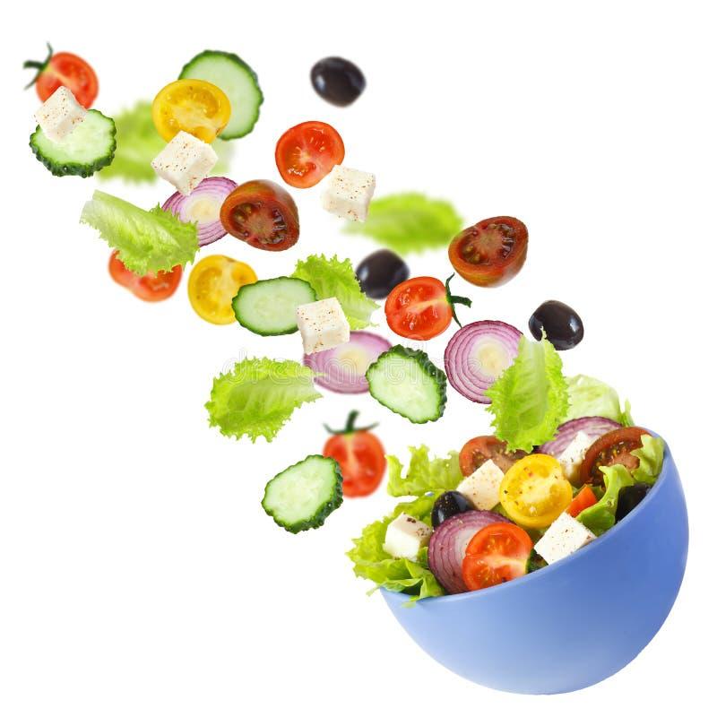 希腊沙拉。 库存照片