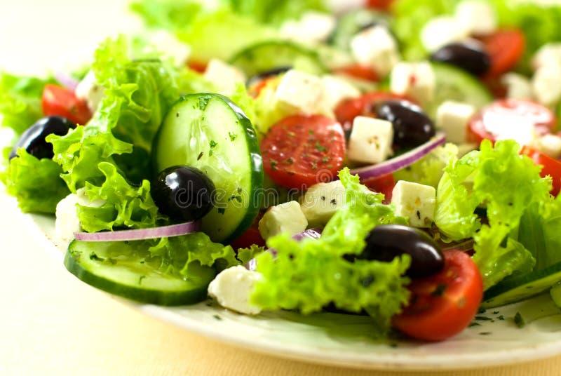 希腊沙拉 库存照片