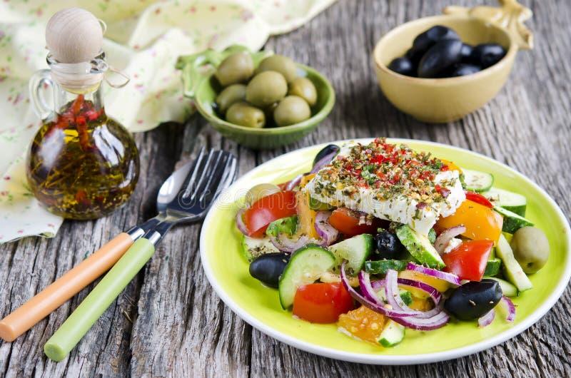 希腊沙拉 免版税库存照片