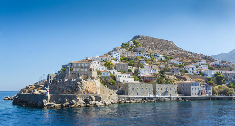 希腊海岛九头蛇,希腊 库存图片