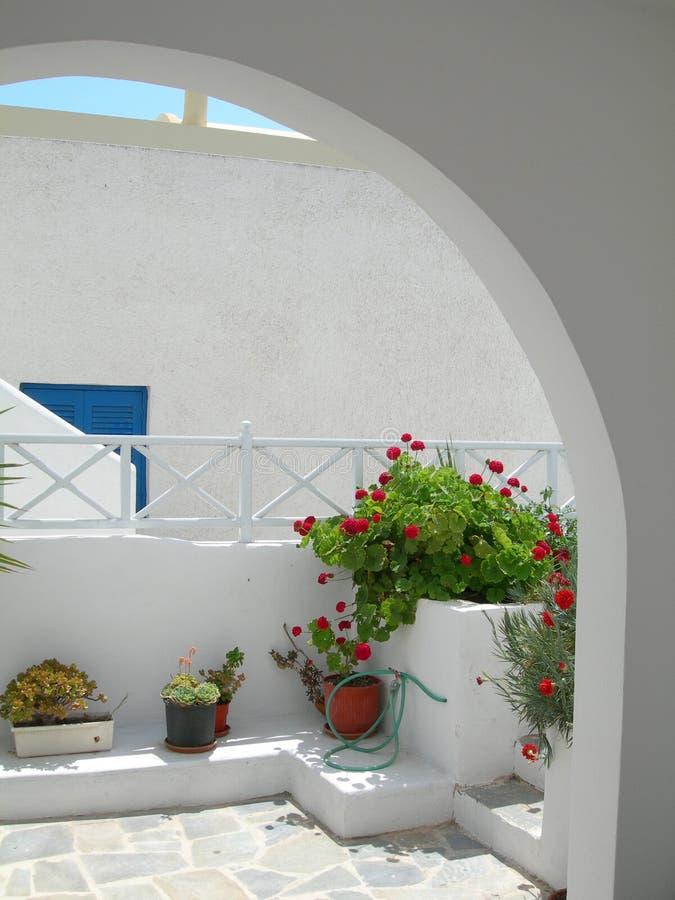 希腊海岛场面 库存照片