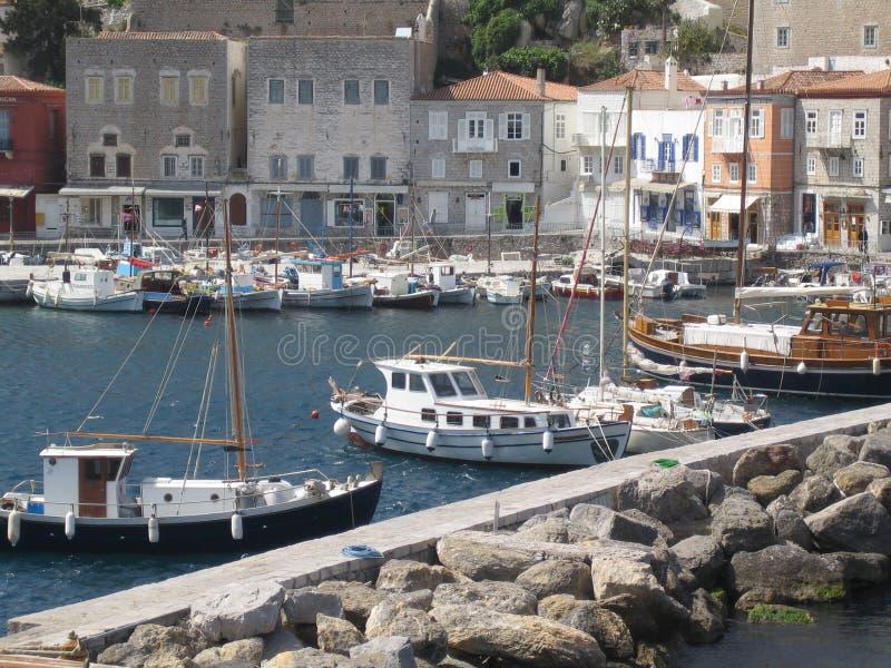 希腊海岛端口s 库存照片
