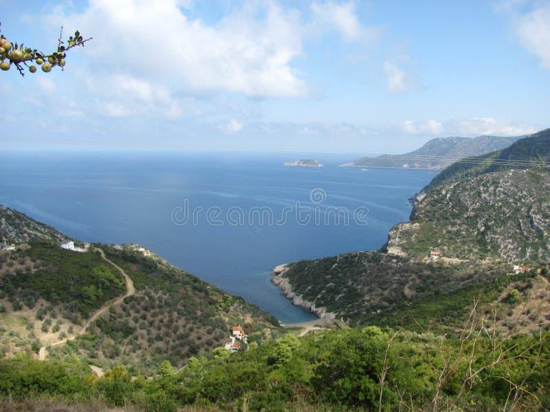 希腊海岛阿洛尼索斯岛在爱琴海 免版税库存图片
