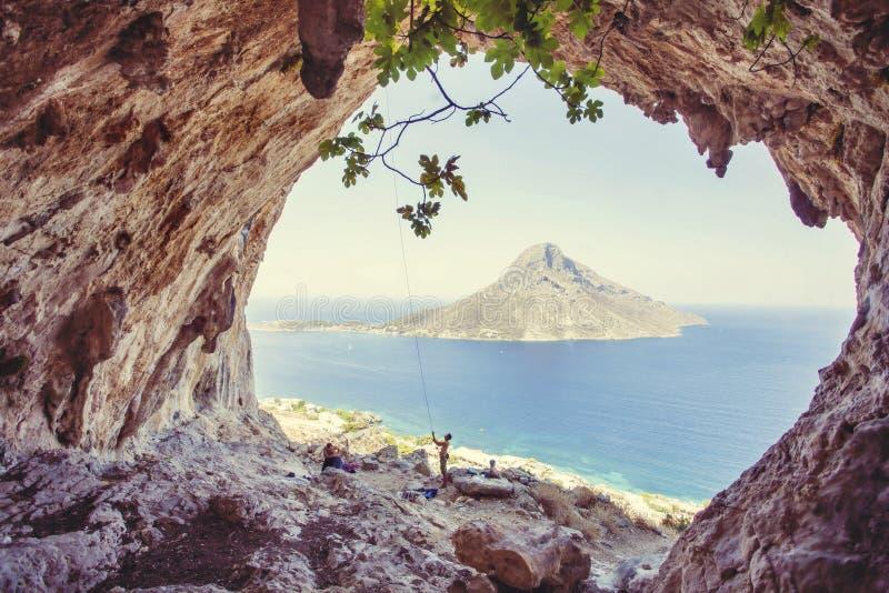 希腊海岛kalymnos 免版税库存图片
