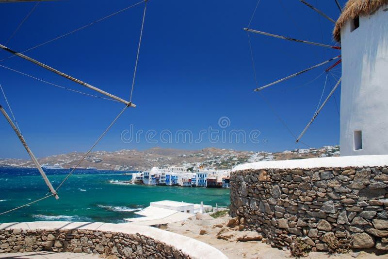 希腊海岛mykonos 免版税库存图片