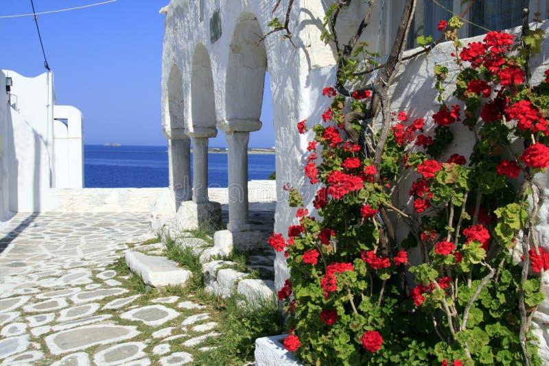 希腊海岛paros 库存照片