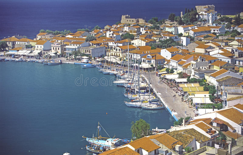 希腊海岛pythagoreion samos 免版税库存照片