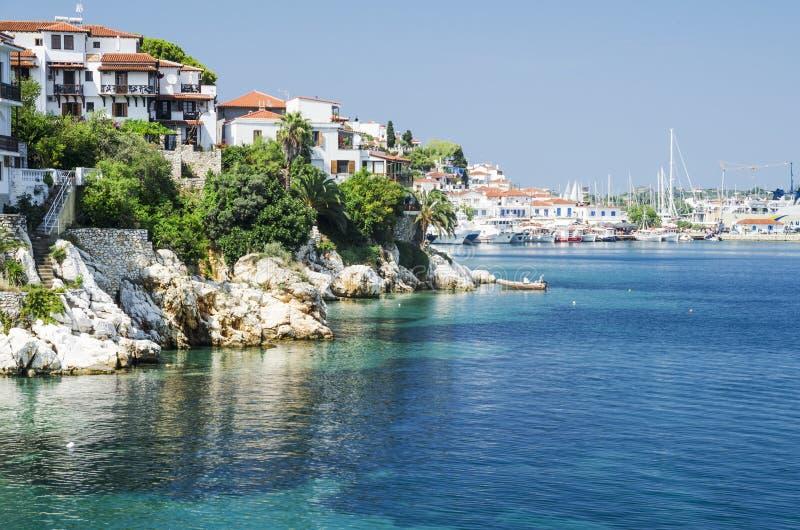 希腊海岛skiathos 免版税库存照片