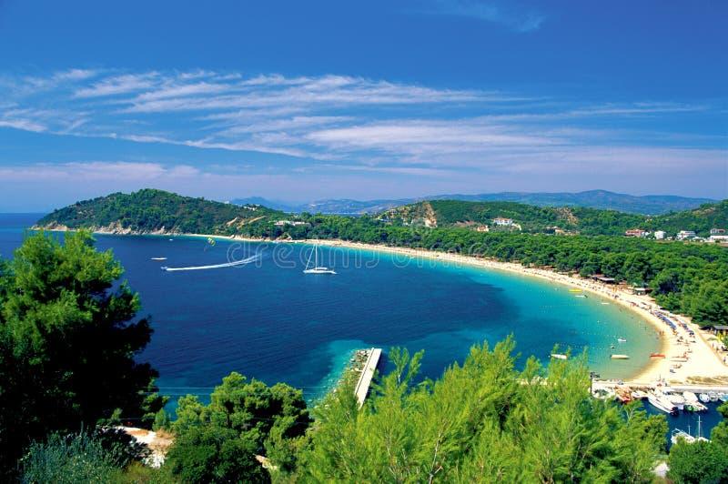 希腊海岛skiathos sporades 免版税库存照片