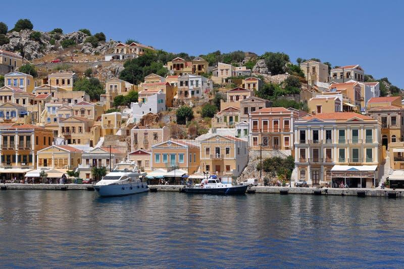希腊海岛symi 库存照片