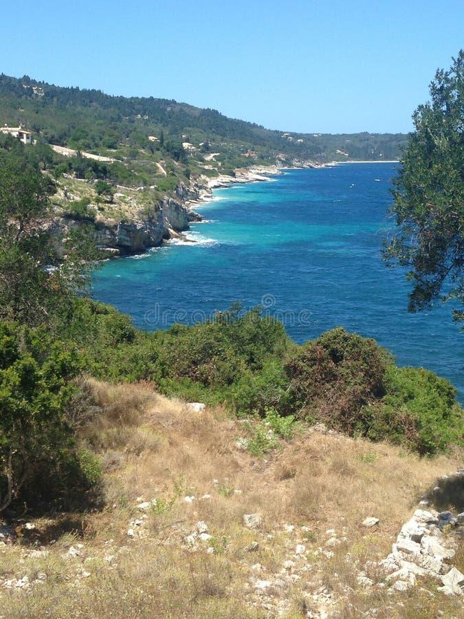 希腊海岸线 免版税库存图片