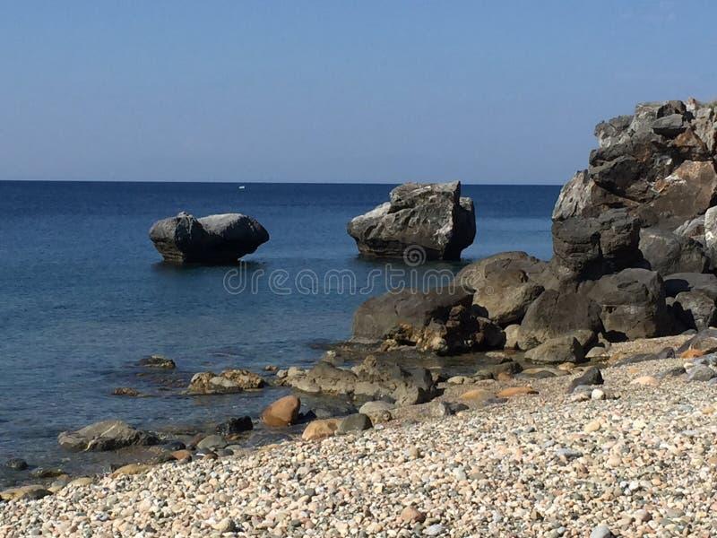 希腊海岸 免版税库存图片