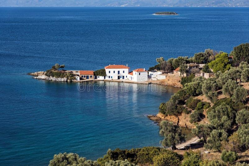 希腊海景 库存照片