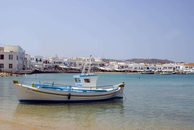 希腊港口海岛 免版税库存照片