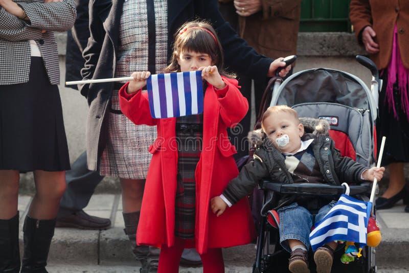 希腊游行 免版税库存照片