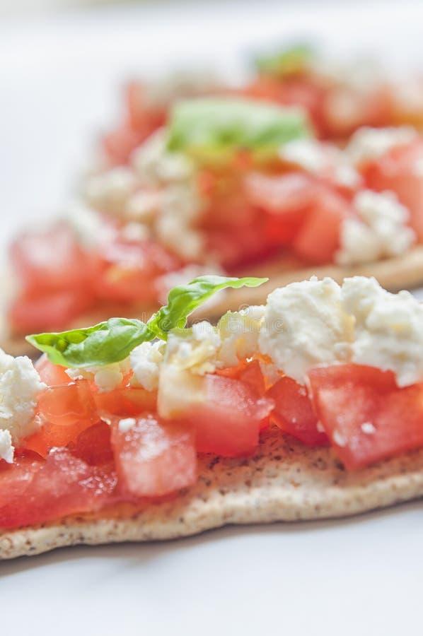 希腊白软干酪薄脆饼干 免版税库存照片